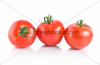 Three mellow red tomatoes