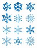 12 snowflakes