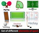 Set of elements of sport.