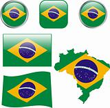 Brazil buttons