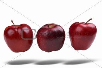 Apples floating