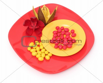 Candy on plate