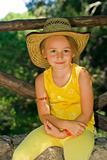 Cute girl in hat