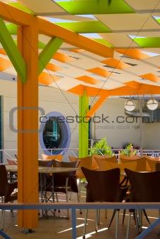 Bright restaurant