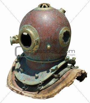 Antique scuba helmet