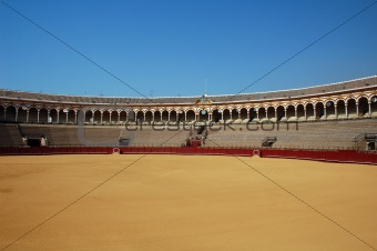 Beautiful bullfight arena in Spain.