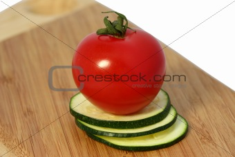 Tomatoes with zucchini