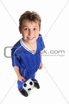 Boy wth soccer ball