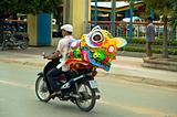 Motor cyclist & friend,  Saigon Vietnam