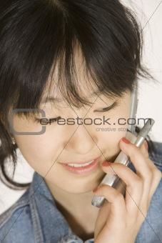 Teenage girl on cell phone