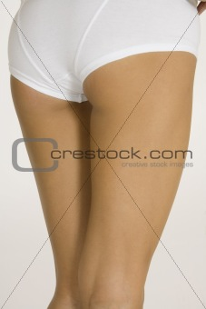 Legs of young caucasian woman