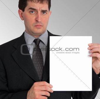 Businessman Side Presentation (Blank)
