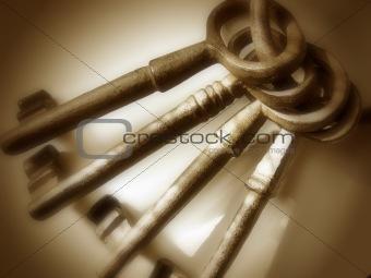 Antique Keys - Brown