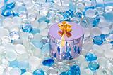 Fancy box on glass balls