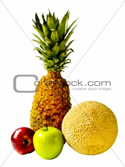 Isolated Fresh Fruit