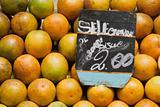 Oranges in a street market
