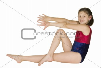 10 year old girl in gymnastics poses