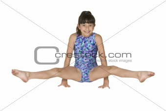 9 year old girl in gymnastics poses