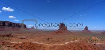 Landscape shot of the Monument Valley in Utah