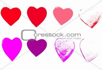 8 Grunge hearts