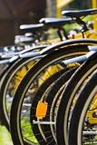 Rack of Bicycles