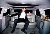 guy in a limousine