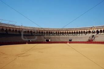 Beautiful bullfight arena in Spain.