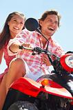 Couple on a quadbike