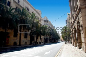 a street in valencia