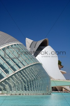 Modern Science Center in Valencia, Spain (the IMAX Theater at the City of Arts and Sciences)
