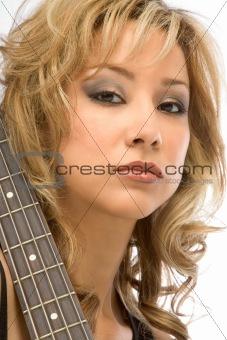 Blonde guitarist
