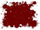 White and Red SnowFlake Grunge