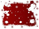 White and Red SnowFlake Christmas Border