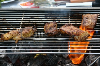 BBQ grilled meat
