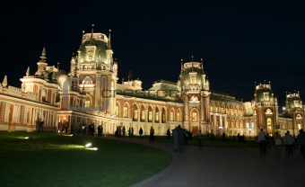 Moscow at night. Tsaritsyno