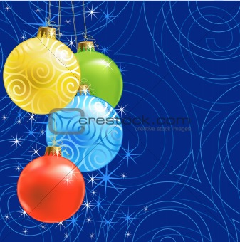 Christmas ball /  background / vector