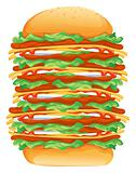 hamburger big rasterized vector illustration