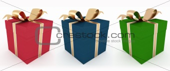 three gift box