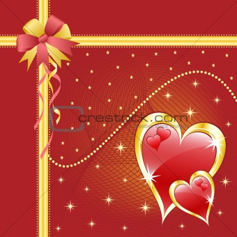 Valentine love hearts red