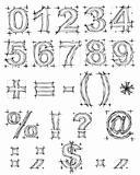 Sketch design hand drawn digit. Vector