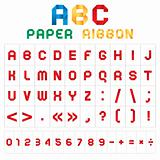 ABC colored font from paper tape