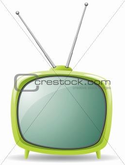 green retro tv set