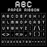 ABC gray font from paper tape