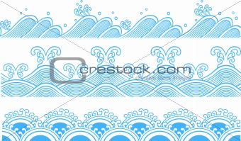 repeated ocean wave pattern design