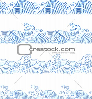 seamless wave illustration