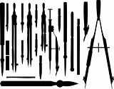 vector set of different drawing instruments
