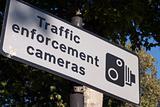 Traffic enforcement cameras sign
