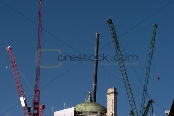 Sky blue cranes