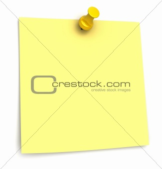 Yellow sticker