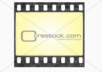 grunge film frame - vector